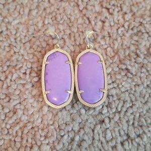Kendra Scott Elle Purple Earrings